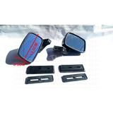 Espejo Automotriz Universal Tunix Fibra De Carbono Y Cromo 1
