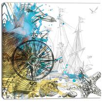 Marine Background Illustration Art , Animal Canvas Print, 3