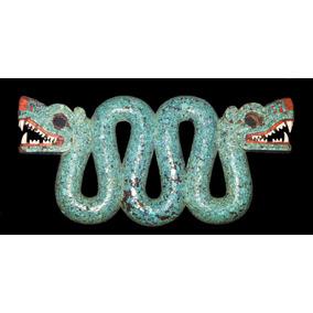 Lienzo Tela Serpiente Azteca Doble Cabeza Decoración Mexica