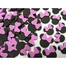 100 Apliques Orelhinha Da Minnie Laço Rosa Lembrancinhas