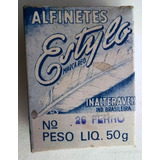Antiga Embalagem De Alfinetes Estylo - N