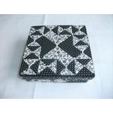 Caixa Kellway - Mdf Decorada Em Patchwork Preto E Branco