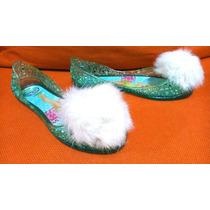 Sandak Zapatos Jelly Flats Plástico Tinker Bell Disney N. 21