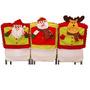 Pparty Cubre Sillas De Navidad Cocina 3d Slip Santa Claus M