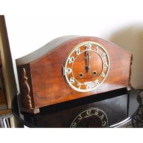 Antiguo Reloj Mesa El Trust Llave Y Péndulo 3 Martillos