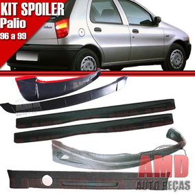 Kit Spoiler Palio 96 99 4 Portas Diant + Lateral Tela + Tras