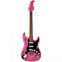 Guitarra Eagle Egp-10 Cr Stratocaster Rosa - Refinado