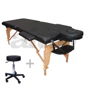 Mesa De Massagem Maca Divã + Cadeira Mocho Para Massagista