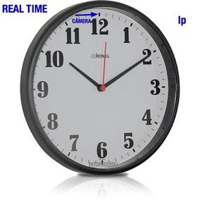 Inteligente Relogio De Parede Ip Espiao Real Time C/ Camera