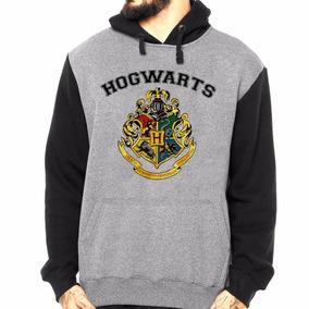 Blusa Moletom Com Capuz Harry Potter Hogwarts School Bruxo