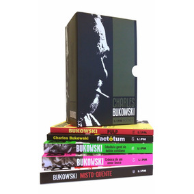 Livro Box Charles Bukowski 5 Livros Factótum Pulp Caixa
