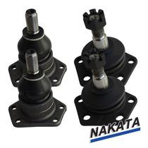 Kit 4 Pivos Suspensão Inferior Superior Blazer S10 - Nakata