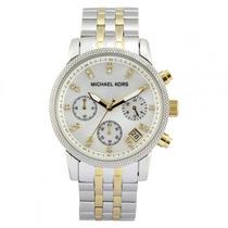 Relógio Michael Kors Mk5057 Prata Dourado Original Garantia
