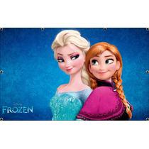 Painel De Festa Infantil 2,40x1,30, Frozen - Frete Grátis
