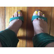 Open Boot Tipo Sandália Raphaella Booz 37 Verde Salto