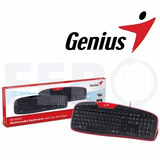 Teclado Genius Kb-m205 Usb Multimedia En Español Para Pc
