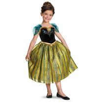 Vestido Disfraz Anna Coronacion Frozen Original Importado