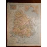 Mapa Antiguo De Uruguay Y Montevideo Grabado Frances De 1897