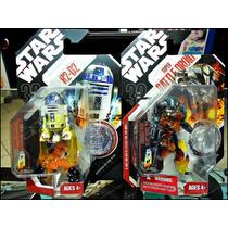 Star Wars,r2-d2 Y Batlle Droid,30 Aniversario,moneda,11 Cm.