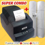 Combo Impresora Termica Pos 58mm Punto De Venta Usb Serial
