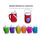 Jarra Bidón Térmico Portable 2 Litros Manija Pico Vertedor