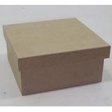 Caixa Quadrada 19x19x08 Tampa 20x20 - 10 Peças