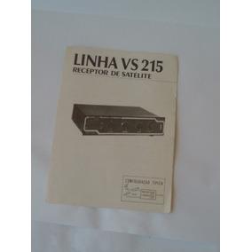Manual Receptor Via Satelite Linha Vs 215 Televox