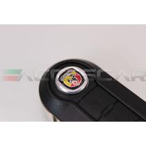 Emblemas Abarth P/ Chave Canivete Com Verniz
