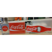 Lote Coca Cola Salero Iman Destapador Todo Nuevo Importado