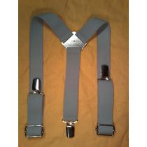 Tirador Para Pantalón Unisex Pinza Madison Gris Claro 3cm