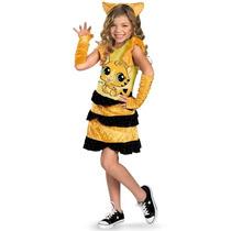 Disfraz Niña Tigre Gato Petshop Talla 4 A 6 Años Pet Shop