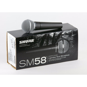 Microfone Dinâmico Cardióide Shure Sm 58 Frete Grátis