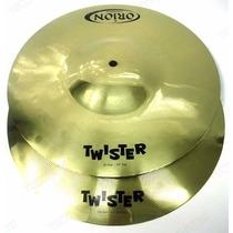 Prato Chimbal Hi Hat Orion Twister O Par + Par Baqueta 2b