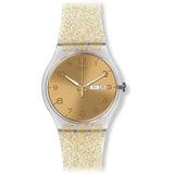 Reloj Swatch Dorado Dorado Dorado Sparkle Silicone Suok704