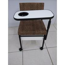 Cadeira Manicure Cirandinha Gaveta+mesinha Oncinha Com Preto