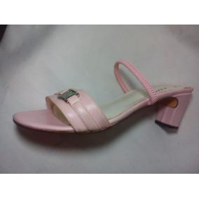 bdbcddb3e81 Zapatos Color Camel Taco Bajo - Sandalias de Mujer Rosa claro en ...