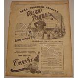 Publicidad Concurso Vino Tomba:gol Olímpico Ces. Onzani 1924