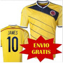 Camiseta Seleccion Colombia 2014 Original Amarilla E Gratis