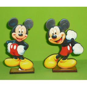 20 Centros De Mesa + Figura Grande Candy Bar Mickey Mouse