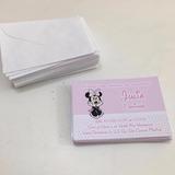 Kit Personalizado Convite Mnnie Rosa C/envelope 50 Itens