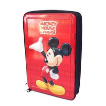 Cartuchera Mickey 2 Pisos C/cierre Licencia Original