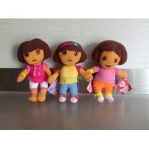 Dora La Exploradora Set De 3 Nuevas Originales Nick Jr 15 Cm