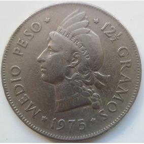 Jm* Dominicana 1/2 Peso 1975 - 30 Milimetros