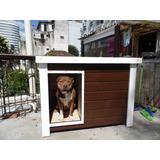 Casinha De Cachorro K9 - Dog-05k9 Verniz (pitbull, Labrador)