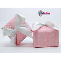 100 Unid Caixa/caixinha Papel Lembrancinha Rosa