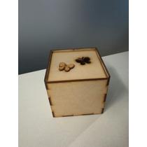 Caja De Mdf Corte Láser, Tapa Abatible Con Figura