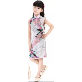 Vestido Infantil Estilo Chinês/kimono - Importado