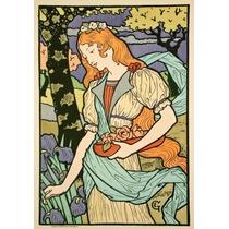 Lienzo Tela Poster Arte Decorativo Francés 1893 E Grasset