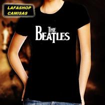 Camiseta Beatles Baby Look Feminina Camisa Mulher Banda Moca