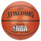 Bola Basquete Silver Spalding Nba Outdoor/indoor